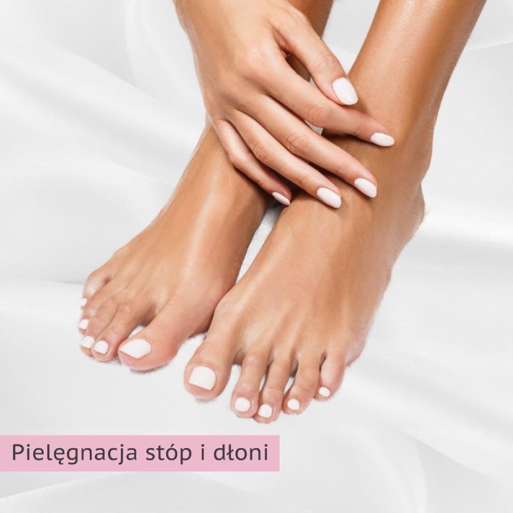 Pielęgnacja stóp i dłoni -napis
